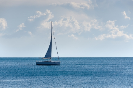sailing on the sea of Liguria Stock Photo - 17801099