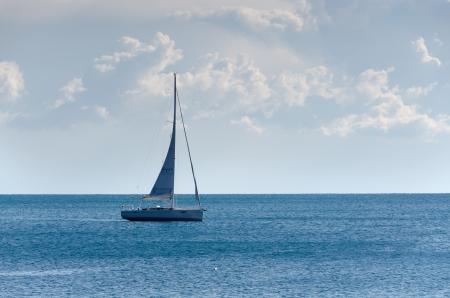 sailing on the sea of Liguria Stock Photo - 17801099