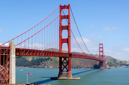 san: Golden Gate Bridge in San Francisco, California in United States of America