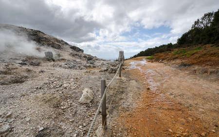 geysers: way between the geysers in Monterotondo in Grosseto