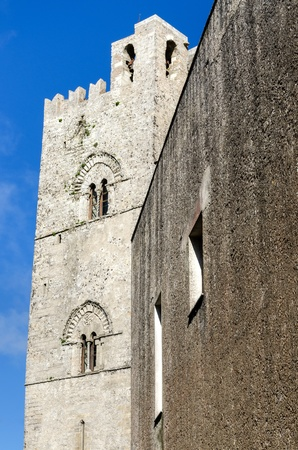 erice: tower with bells in the village of Erice in Sicily