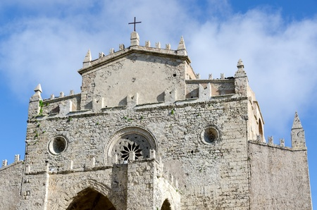 erice: church with bells in the village of Erice in Sicily