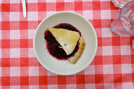 gist: pastry filled with strawberry jam in Cornwall