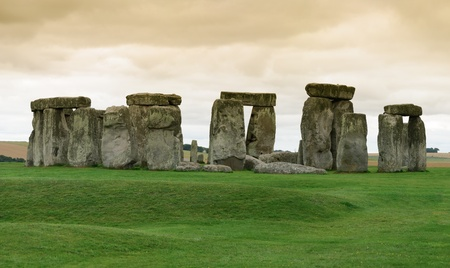 overview of the archaeological site of Stonehenge Stock Photo