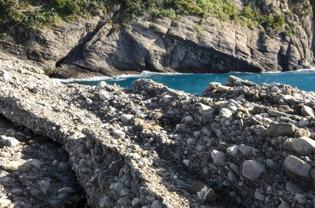 promontory: landscape on the sea in Punta Chiappa in Portofino