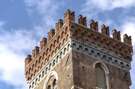 genoa: castle in the old city of Genoa