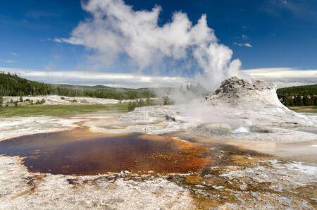 geyser in Yellowstone National Park