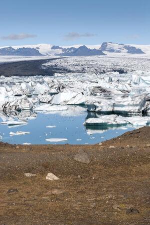 jokulsarlon: icebergs on jokulsarlon lake in Iceland