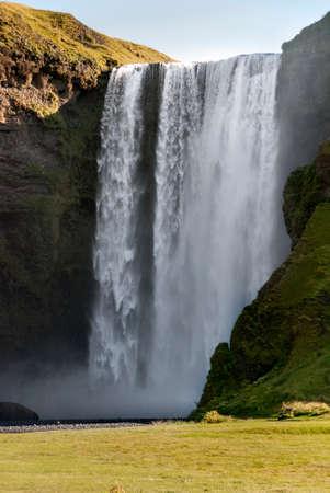skogafoss waterfall: Skogafoss waterfall in Vik in Iceland