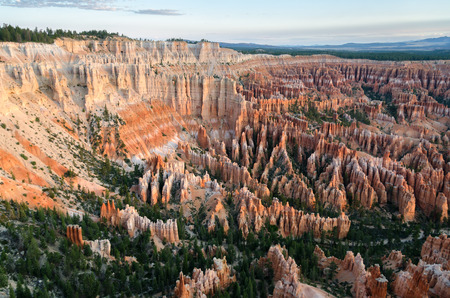 plateau point: view on Bryce Canyon at sunrise in Utah Stock Photo