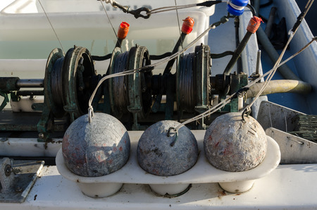 sinkers: sinkers for fishing in the port of Vancouver Stock Photo
