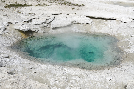 yellowstone: landscape and Geyser in Yellowstone National Park