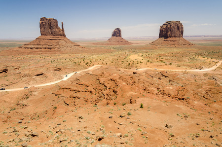 Monolith: Monolith in Monument Valley in Utah in the United States of America Stock Photo