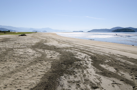 silt: landscape of silt and sand with low tide in Paraty in Brazil