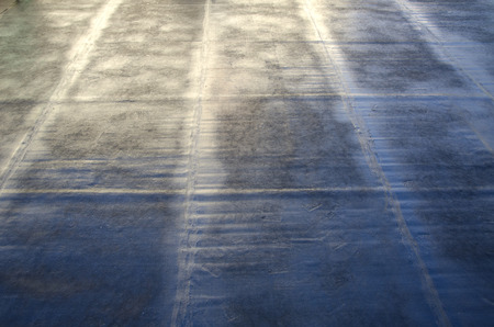 During welding flame of a waterproofing membrane on a roof 版權商用圖片 - 52666011