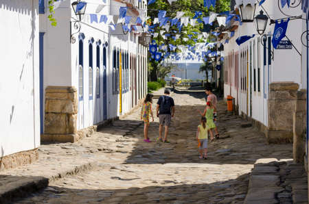 colors and architecture in Paraty in Brazil