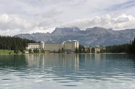 landscape of lake louise in Alberta Canada Stock Photo