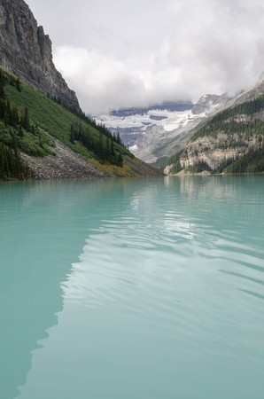 louise: landscape of lake louise in Alberta Canada