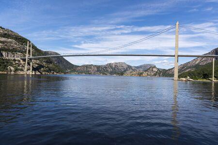 Lysefjord Brucke bridge over Lysefjord in Stavanger in Norway