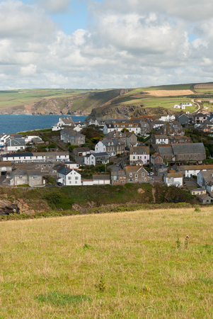 overview in Port Isaac in Cornwall Stock Photo