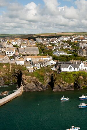 isaac: overview in Port Isaac in Cornwall Editorial