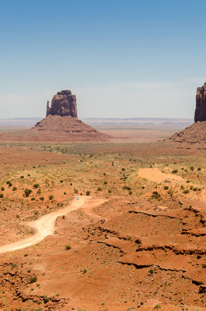 Extreme landscape of Monument Valley in Utah
