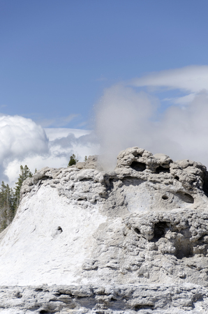 geysers and lakes in Yellowstone national Park