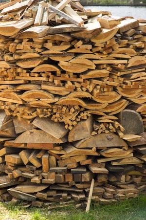 Wood stack at Zaanse Schans in Holland