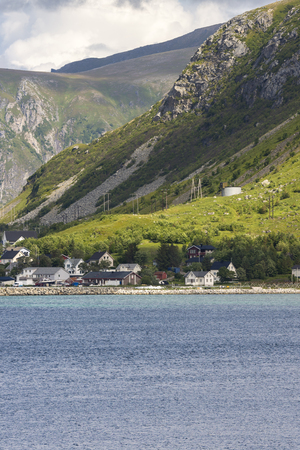 panorama on the coast of Reine at Lofoten island in Norway