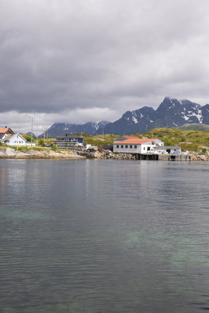 Panoramic view of the coast and the islands at Svolvaer in the Lofoten in Norway Editorial