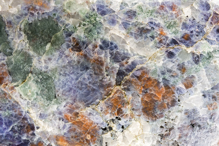 colored granite marble rocks in Norway Stock Photo