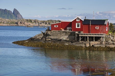 panoramic view of the coast and the islands at Svolvaer in the Lofoten in Norway