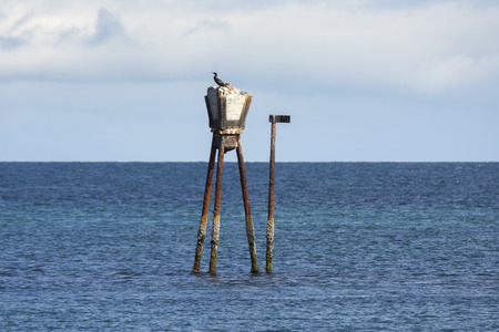 maritime signal on the coasts of Andenes at the Lofoten Islands in Norway