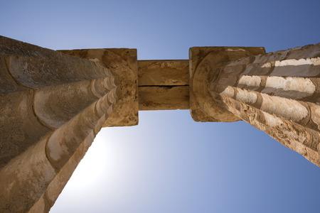 Ancient temples of Selinunte in Agrigento in Sicily in Italy Banco de Imagens