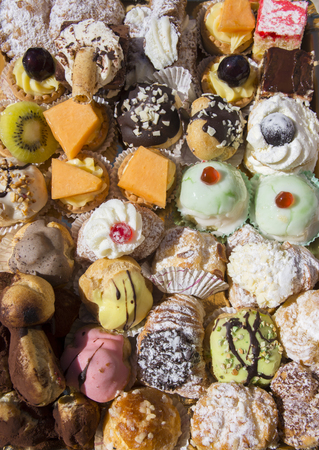 Variety of Sicilian pastries on a tray