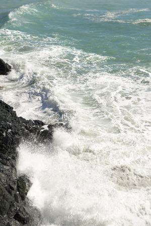 rough sea in Liguria 스톡 콘텐츠
