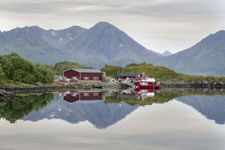 Nyksund village to the Lofoten islands in Norway Stock Photo