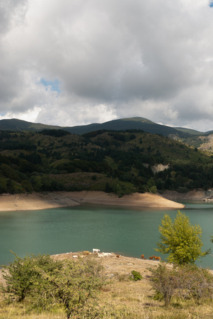 Giacopiane lake in Liguria in Italy