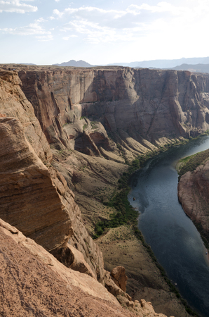 landscape on the horseshoe canyon in the united states of america