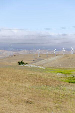 wind turbines in wind farm in Livermore Golden Hill California in the United States of America