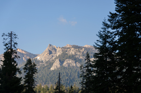 landscape in the Sequoia National Park in California in the United States of America