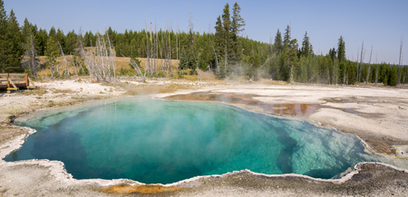 hot pools in Yellowstone National Park in Wyoming