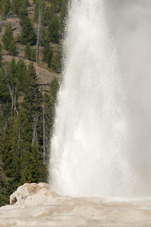 old faithful Geyser in old faithful Basin in Yellowstone National Park in Wyoming