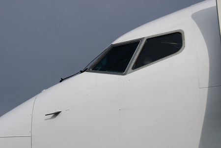 muzzle of an airplane at the airport in Cornwall