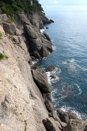 stretch of coast on the promontory of Portofino in Liguria