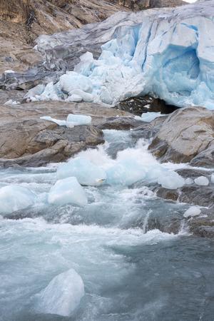 Nigardsbreen Glacier in Laerdal in Norway Stock Photo