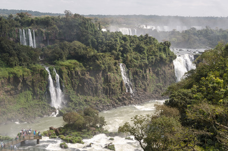 overview of landscape to iguacu waterfalls in Brazil 免版税图像