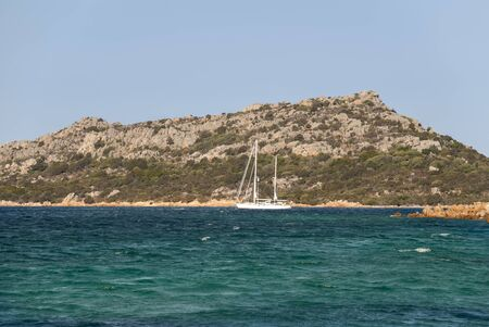 landscape on the island of La Maddalena in Sardinia in Italy 版權商用圖片