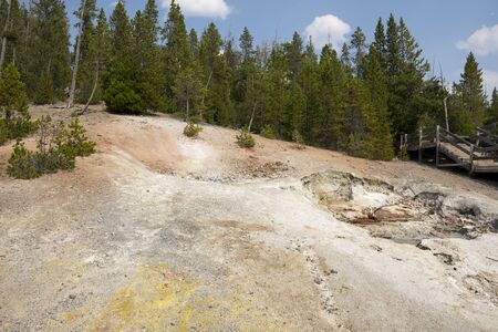 norris geyser back basin in Yellowstone National Park in Wyoming 版權商用圖片