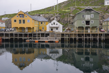 Nyksund village to the Lofoten islands in Norway Editorial